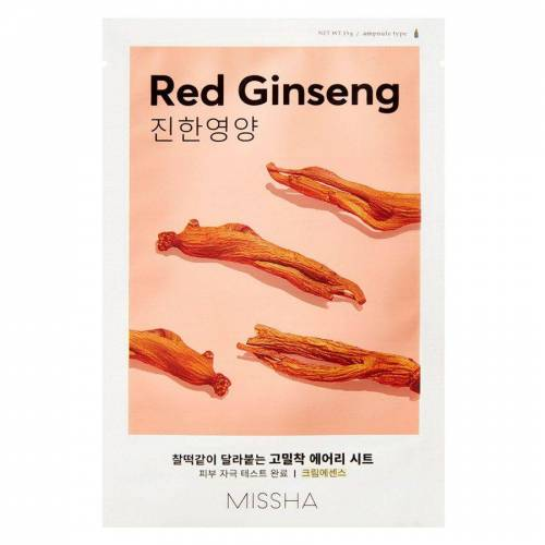 Missha Airy Fit Sheet Mask, Red Ginseng (19g)