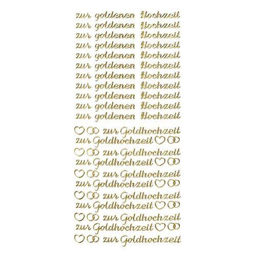 Ideen mit Herz Sticker, Schrift, zur goldenen Hochzeit, gold