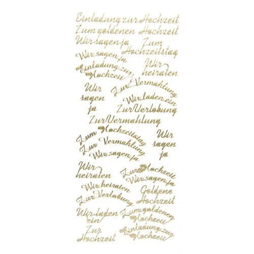 """Ideen mit Herz Sticker """"Einladung zur Hochzeit"""", gold"""