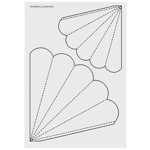 Ideen mit Herz Design-Schablone, Zuckertüte/Schultüte, DIN A3