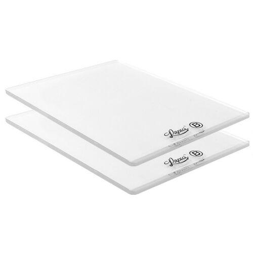 Ideen mit Herz Kunststoffplatten B, für Präge-& Stanzmaschine, 15cm x 19,5cm, 0,3cm dick, 2 ...