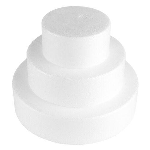 Ideen mit Herz Styropor-Torte, 3 Styropor-Podeste, Ø20 cm, Ø15 cm, Ø10 cm