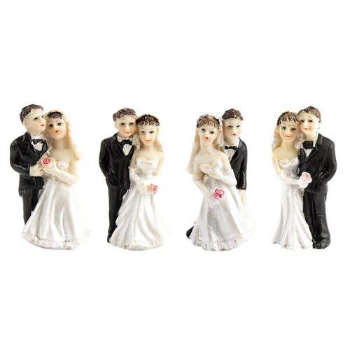Ideen mit Herz Deko-Hochzeitspaare, Steinharz, 6 cm, 4 Stück
