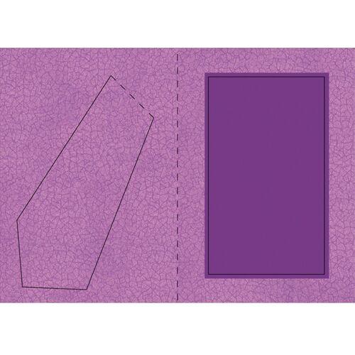 Ideen mit Herz Bilderrahmen-Karte, Krakelier-Optik, B6