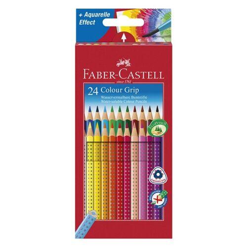 Ideen mit Herz Wasservermalbare Buntstifte/Aquarell-Farbstifte, Colour Grip, Faber-Castell, ...
