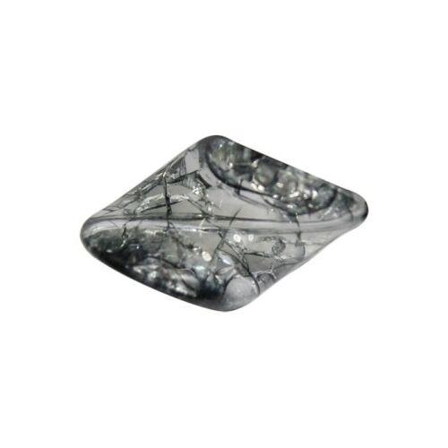 Ideen mit Herz Gedrehte Perle, Krakelieroptik, 3 x 1,5 cm, rauchquarz, 10 Stück