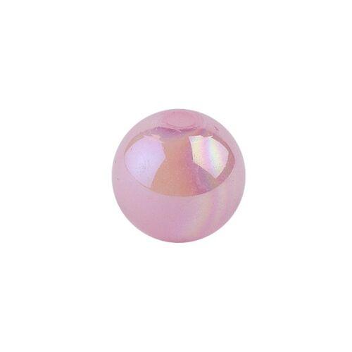 Ideen mit Herz Perlen, irisierend, Ø 4mm, rosa-irisierend, 200 Stk.