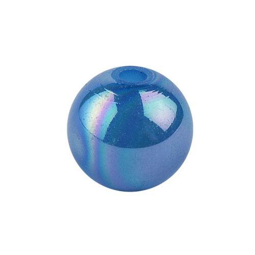 Ideen mit Herz Perlen, irisierend, Ø 6mm, blau-irisierend, 150 Stk.
