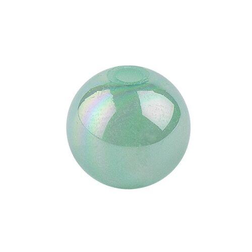 Ideen mit Herz Glas-Perlen, irisierend, Ø 6mm, grün-irisierend, 150 Stk.