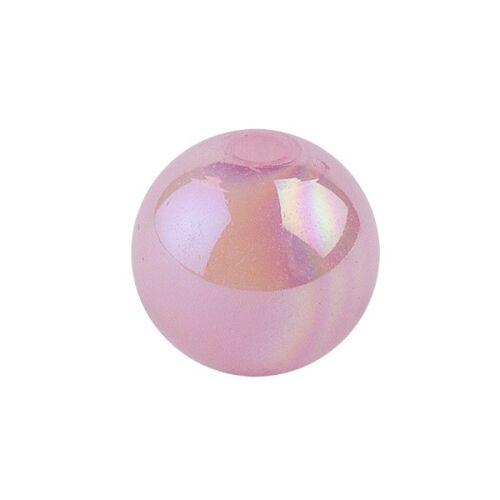 Ideen mit Herz Perlen, irisierend, Ø 6mm, rosa-irisierend, 150 Stk.