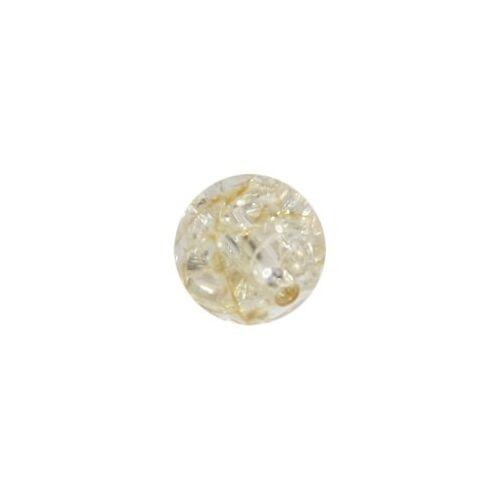 Ideen mit Herz Perle, Krakelieroptik, Ø1 cm, bernstein, 10 Stück