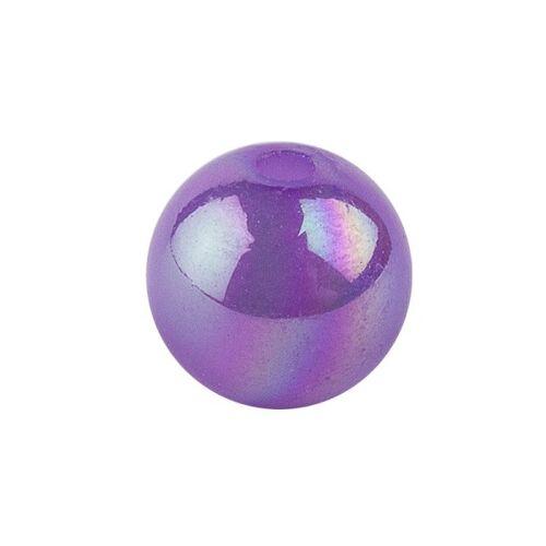 Ideen mit Herz Perlen, irisierend, Ø 6mm, violett-irisierend, 150 Stk.
