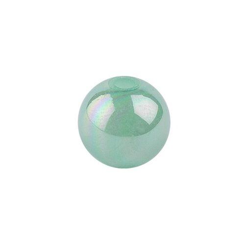 Ideen mit Herz Perlen, irisierend, Ø 4mm, grün-irisierend, 200 Stk.