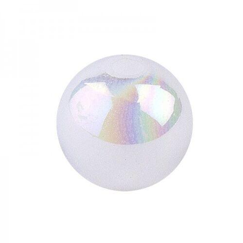Ideen mit Herz Perlen, irisierend, Ø 8mm, weiß-irisierend, 100 Stk.