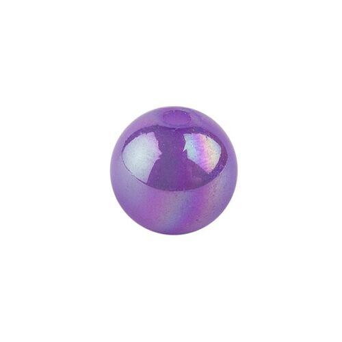 Ideen mit Herz Perlen, irisierend, Ø 4mm, violett-irisierend, 200 Stk.