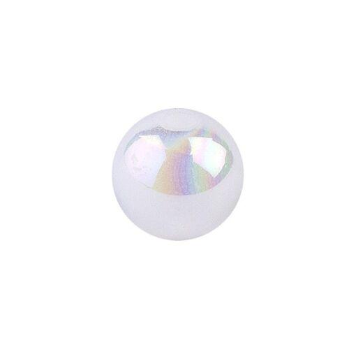 Ideen mit Herz Perlen, irisierend, Ø 4mm, weiß-irisierend, 200 Stk.