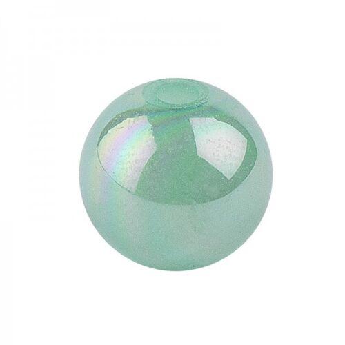 Ideen mit Herz Perlen, irisierend, Ø 8mm, grün-irisierend, 100 Stk.