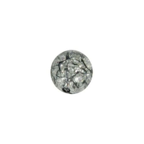 Ideen mit Herz Perle, Krakelieroptik, Ø1 cm, rauchquarz, 10 Stück