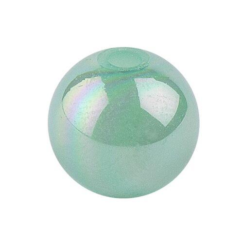 Ideen mit Herz Perlen, irisierend, Ø 10mm, grün-irisierend, 50 Stk.