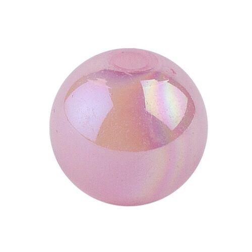 Ideen mit Herz Perlen, irisierend, Ø 10mm, rosa-irisierend, 50 Stk.