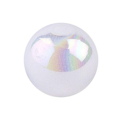 Ideen mit Herz Perlen, irisierend, Ø 10mm, weiß-irisierend, 50 Stk.