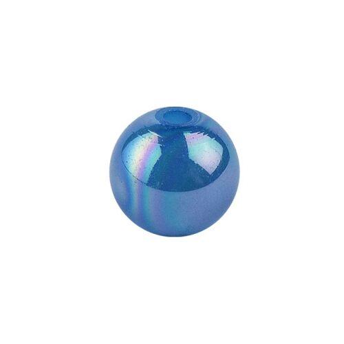 Ideen mit Herz Perlen, irisierend, Ø 4mm, blau-irisierend, 200 Stk.