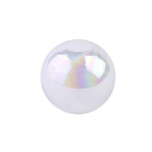 Ideen mit Herz Perlen, irisierend, Ø 6mm, weiß-irisierend, 150 Stk.