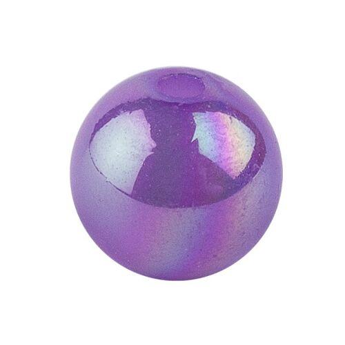 Ideen mit Herz Perlen, irisierend, Ø 10mm, violett-irisierend, 50 Stk.