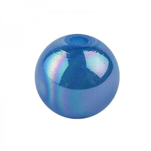 Ideen mit Herz Perlen, irisierend, Ø 8mm, blau-irisierend, 100 Stk.