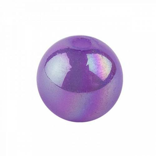 Ideen mit Herz Perlen, irisierend, Ø 8mm, violett-irisierend, 100 Stk.