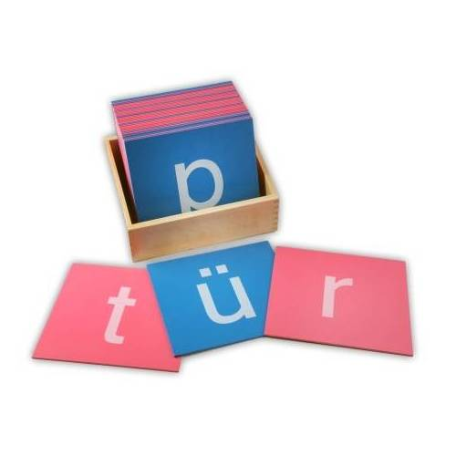 Monti-W Sandpapierbuchstaben - Kleinbuchstaben