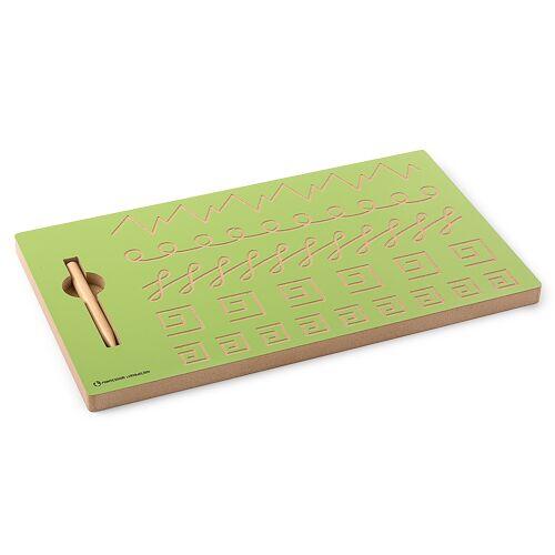 Monti-W Schwungübungstafel mit Schreibübungen
