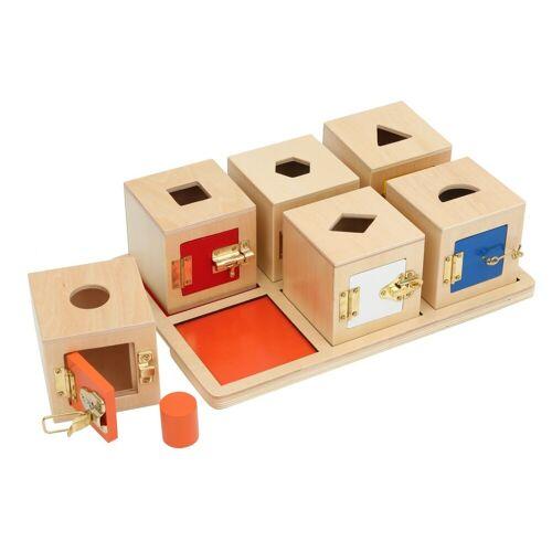 Monti-W Tablett mit 6 Löcher-Boxen