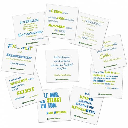 ML 10 Montessori Poster mit Zitaten von Maria Montessori