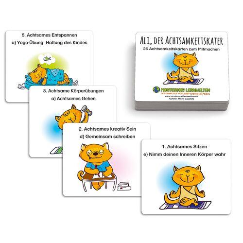 ML Ali, der Achtsamkeitskater - 25 Achtsamkeitskarten zum Mitmachen