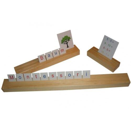 Monti-W Setzleiste aus Naturholz - 15 cm