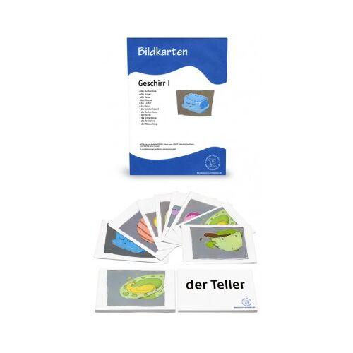 Abverkauf 12 Bildkarten - Geschirr