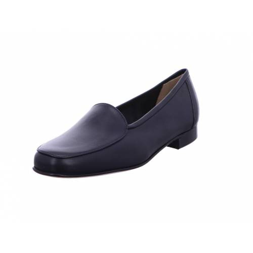 Gabriele Klassische Slipper blau Ledersohle 39
