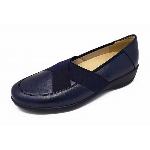 Goldkrone Ballerinas blau 38,5