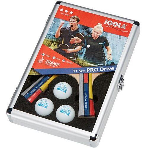 Joola Tischtennisschläger Pro Drive (Set mit Schlägerhülle mit Tennisbällen)