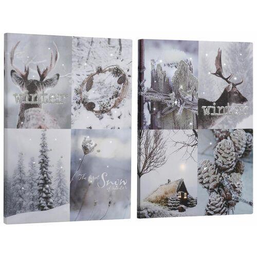 Dreams LED-Bild Winterlandschaft Landschaften (Set 2 St)