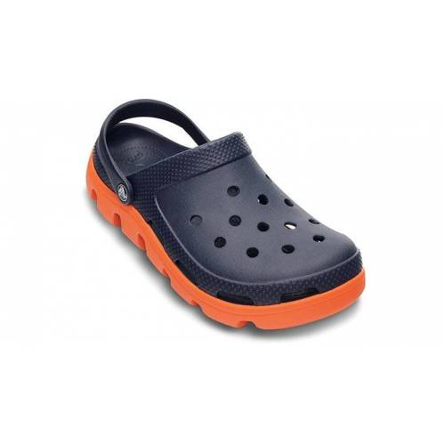 Crocs Duet Sport Clogs Unisex Navy / Orange 43