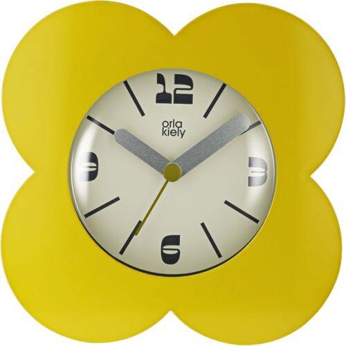 Orla Kiely Clocks Dandelion Clock Unisexuhr in Gelb OK-ACLOCK01