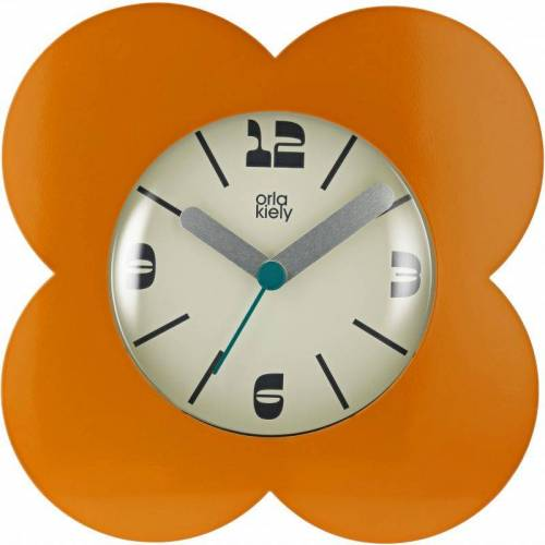 Orla Kiely Clocks Geranium Clock Unisexuhr in Orange OK-ACLOCK04