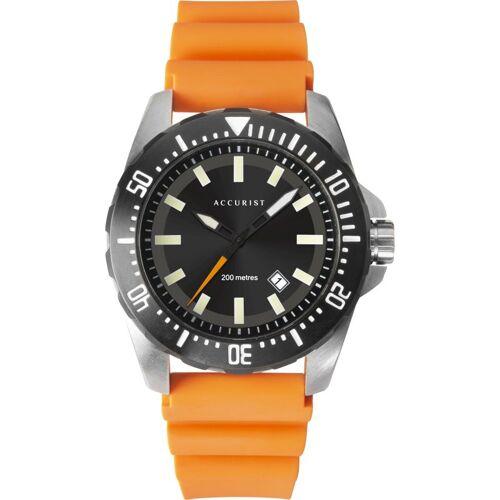 Accurist Accurist Mens Divers Herrenuhr in Orange 7306