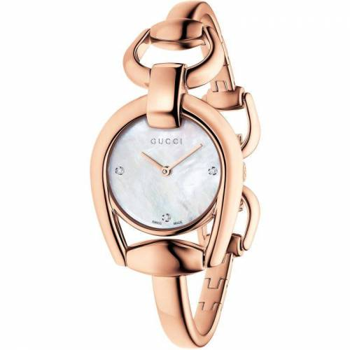 Gucci Horsebit Damenuhr in Rosa YA139508