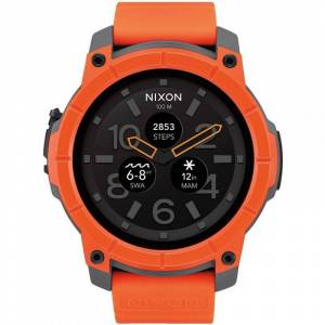 Nixon The Mission Android Wear Bluetooth Smart Herrenchronograph in Orange A1167-2658