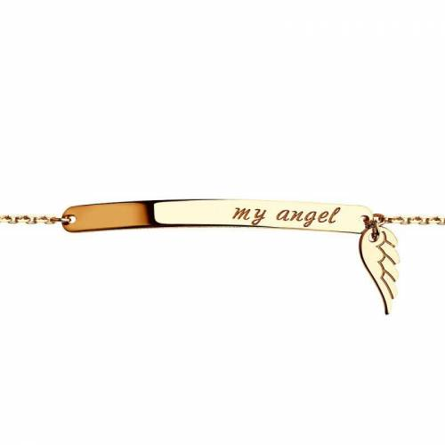 Sokolov Damen Sokolov Lovely 'My Angel' Armband 14 Karat Gold 50892