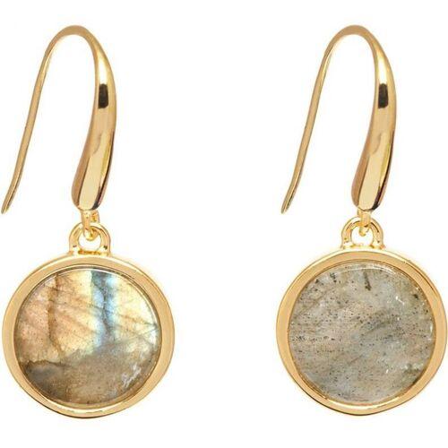 Lola Rose Jewellery Damen Lola Rose Garbo Labradorite Ohrringe vergoldet 612197