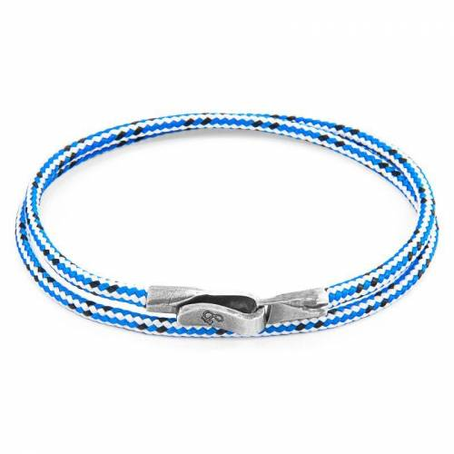 Anchor & Crew Unisex Anchor & Crew Blue Dash Liverpool Armband Sterling-Silber AC.DO.LI2